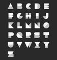 Geometric paper alphabet set