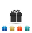 gift box icon isolated on white background vector image vector image