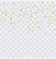 gold confetti christmas texture for holiday vector image