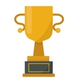Gold cup trophy vector image vector image