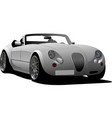 gray car cabriolet on the road vector image vector image