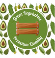 green vegetables premium quality badge vector image