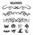 halloween set decoration vector image