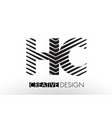 hc h c lines letter design with creative elegant vector image vector image