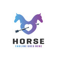horse lovers modern logo vector image vector image