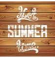 Hot summer time Calligraphic handwritten vector image vector image