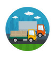icon of road transport and logistics vector image vector image