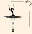 image of a ballerina vector image vector image