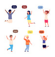 international hello friendly children greetings vector image