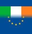 ireland national flag with a star circle of eu vector image vector image