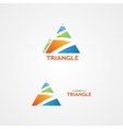 logo with a creative triangle logo vector image vector image