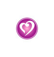 love abstract valentine logo vector image vector image
