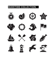 Marine icons set vector image