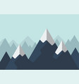 mountain in flat style vector image vector image