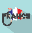 Paris The Capital City Of France vector image