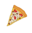 Pizza Slice With Mushrooms And Tomato vector image vector image