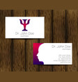 Psychology visit card modern logo