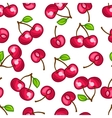 Seamless pattern with stylized fresh ripe cherries vector image