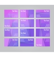 Set of twelve visit cards vector image vector image