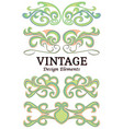 set of vintage floral elements for design vector image vector image