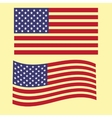 set the US flag bright country nation patriot vector image vector image