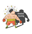 shadow boxing comic vector image