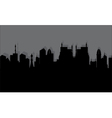 silhouette of the historic town vector image vector image