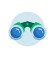 simple binocular icon in circle flat design vector image vector image