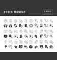 simple icons cyber monday vector image