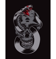 skull with cobra vector image vector image