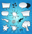 speech bubbles explosion and splashes set vector image vector image