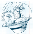 spring season doodles vector image vector image