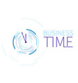 time concept or clock business icon creative vector image