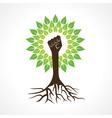 Unity hand make tree vector image vector image