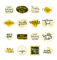 Vegan Labels Set vector image