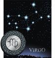 virgo zodiac sign virgin vector image