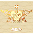 wedding gold card 380 vector image vector image