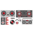 with red dj accessories dj vector image