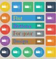 flashlight icon sign Set of twenty colored flat vector image