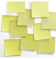 yellow sticky notes editable template on vector image