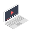 Isometric laptop icon flat design vector image