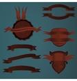 logo ribborn red vector image