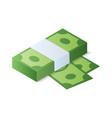stack of dollar bills isometric vector image
