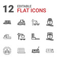 12 tanker icons vector image vector image
