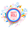 abstract happy holi background for festival o vector image vector image