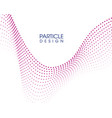 abstract wave particle design vector image vector image