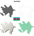 Azerbaijan outline map set vector image vector image