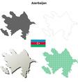 Azerbaijan outline map set vector image vector image
