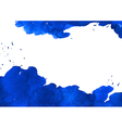 Background with blue watercolor spot vector image vector image