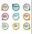 badges collection 3 vector image vector image